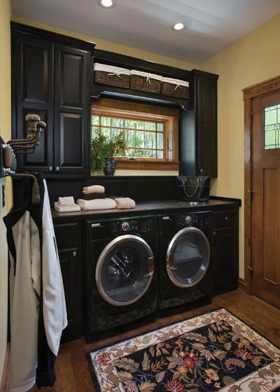 Rustic Laundry Room by Riverbend Timber Framing