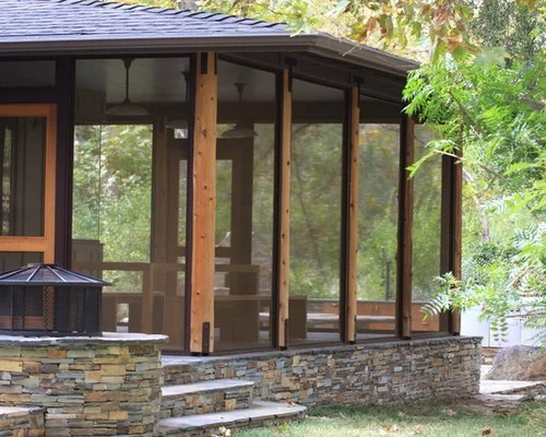 Stacked Stone Columns Ideas Pictures Remodel And Decor