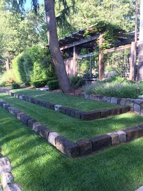 888 Farmhouse Front Yard Landscape Design Ideas & Remodel ... on Farmhouse Yard Ideas id=33499