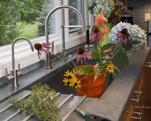 36 Stainless Steel Undermount Single Bowl Kitchen Sink With Drain Board Modern