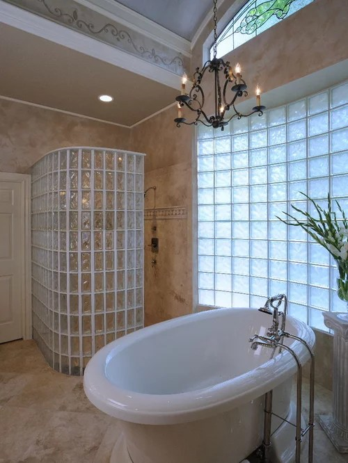 Glass Block Walk In Shower Home Design Ideas Pictures