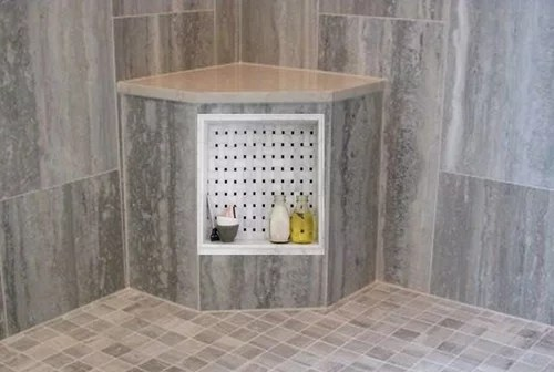 can a shower niche be built into a