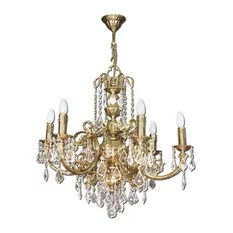 Klobe Fantasy 6 Light Brass Chandelier Bright Nickel Chandeliers