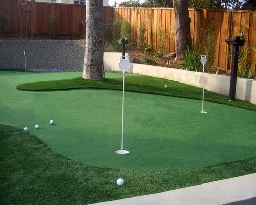 Small Putting Green Home Design Ideas, Pictures, Remodel ... on Putting Green Ideas For Backyard id=31444