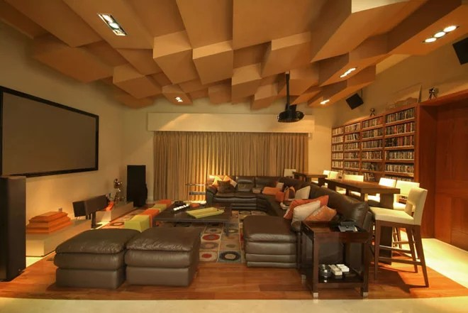 Contemporary Home Theater by DIN Interiorismo