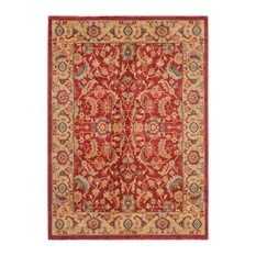 Safavieh Toulouse Woven Rug Red and Natural 4'x5'7