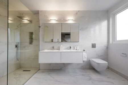 How to Design a Sleek  Modern Bathroom Modern Bathroom by Keenan Construction