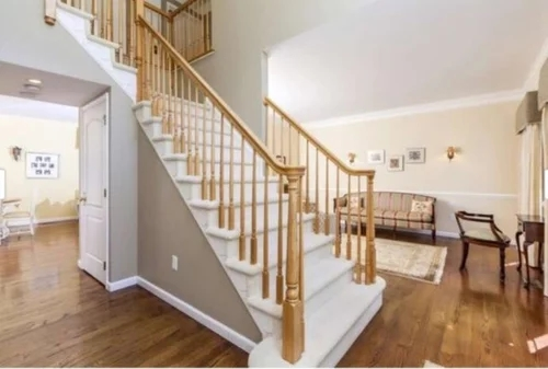 Cost To Stain Paint Stair Railings And Balusters | New Stair Railing Cost | Staircase Ideas | Glass Railing | Staircase Design | Stair Parts | Wooden Stairs
