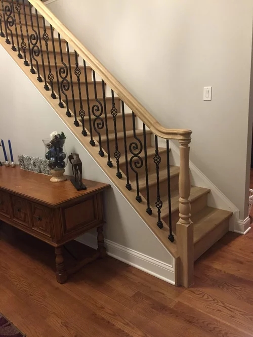 Picking A Color For Staircase And Handrail | New Handrail For Stairs | Traditional | Wall Both Side | Contemporary | Mission Style | Wrought Iron