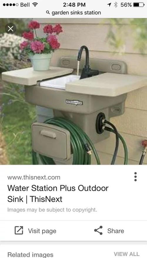 outdoor garden sink idea