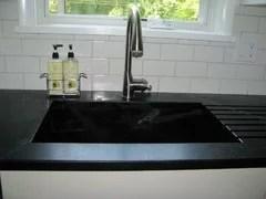 soapstone drainboard built in sink