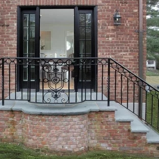 Wrought Iron Railings Porch Ideas Photos Houzz | Wrought Iron Outdoor Handrails | Curved | Vintage Salvaged Outdoor Iron | Aluminum | Modern | Residential