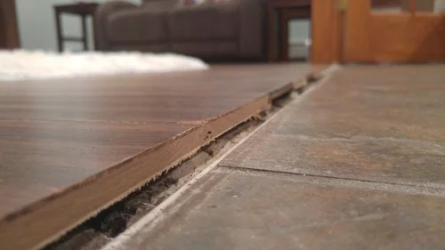 wood floor to tile threshold saddle