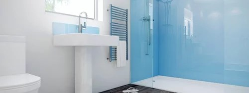 buy glass or acrylic shower wall panels