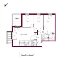 salon double plans 3d