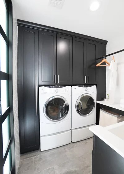 Contemporary Laundry Room by Change Your Bathroom, Inc.