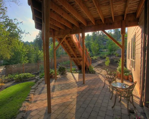 Patio Under Deck Home Design Ideas, Pictures, Remodel and ... on Under Deck Patio Ideas id=70711