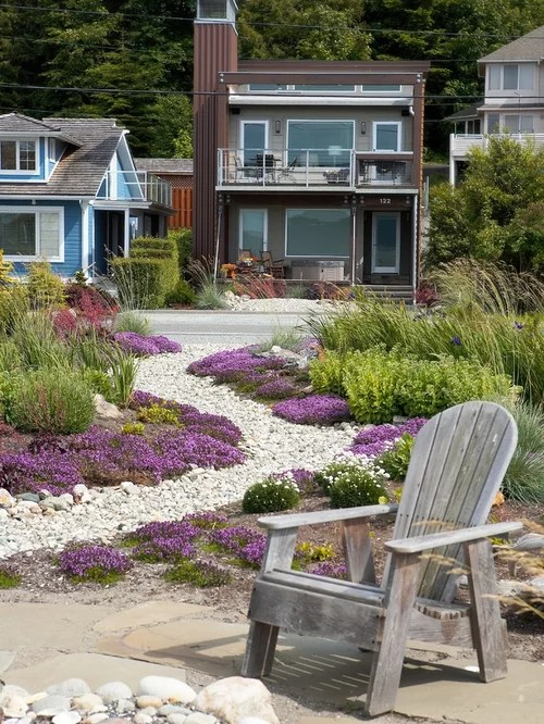 Beach Style Front Yard Garden Design Ideas, Renovations ... on Coastal Backyard Ideas  id=26562