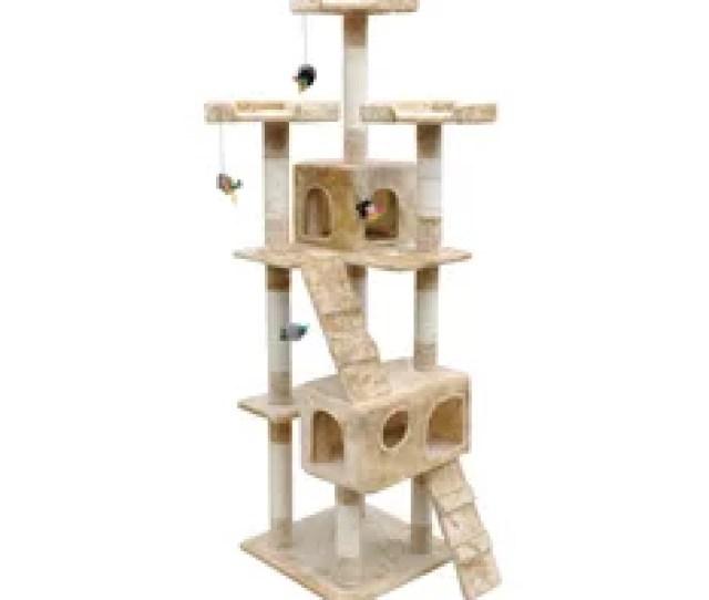 Vidaxl Vidaxl Cat Tree Scratching Post  Condo Beige  Cm
