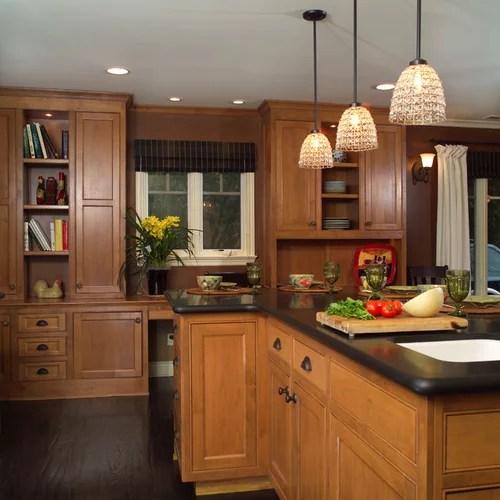 Dark Floor Light Cabinet | Houzz on Maple Kitchen Cabinets With Dark Wood Floors Dark Countertops  id=31700
