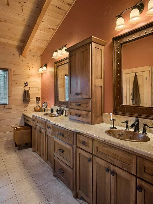 Wormy Maple Cabinets Home Design Ideas, Pictures, Remodel ... on Bathroom Ideas With Maple Cabinets  id=21809