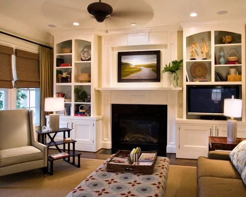 Built Ins Around Fireplace Home Design Ideas, Pictures