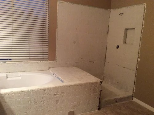 shower tile placement and pattern with