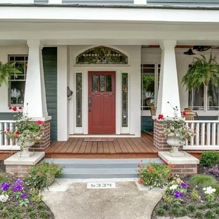 Front Porch Step Photos Houzz | Home Front Steps Design | House | Main Door Step | Unusual | Front House Terrace | Rounded