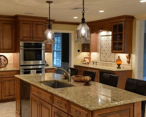 Granite Countertops Maple Cabinets | Houzz on Best Countertops For Maple Cabinets  id=19194
