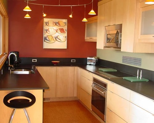 Contemporary Maple Cabinets   Houzz on Kitchen Backsplash Ideas With Maple Cabinets  id=71406