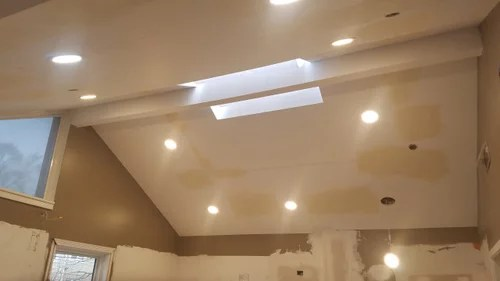 recessed lighting in kitchen on