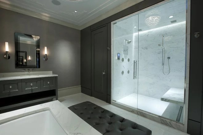 Contemporary Bathroom by Michael Abrams Interiors