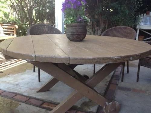 paint vintage wood patio table
