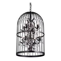 1st Avenue Carlo Oil Rubbed 8 Light Bird Cage Crystal Chandelier Chandeliers