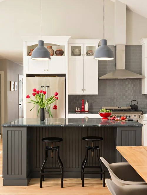 L Shaped Kitchen Large Island