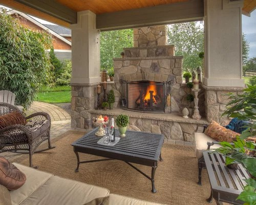 Covered Patios With Fireplaces Home Design Ideas Pictures