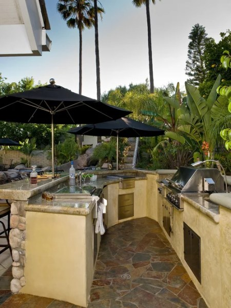 tropical patio outdoor kitchens Outdoor Kitchen Bar Home Design Ideas, Pictures, Remodel