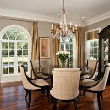 Curio cabinet decorating ideas   an Ideabook by acook28 Traditional Dining Room by Veranda Homes