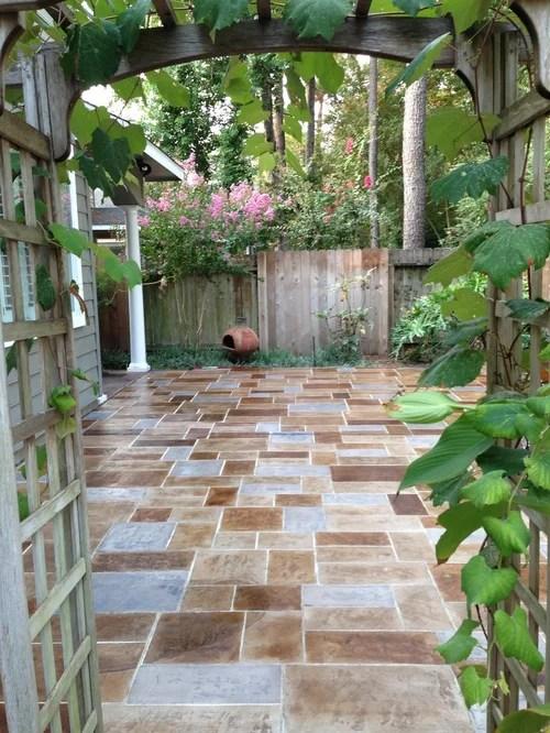 Concrete Patio Stamping   Houzz on Houzz Backyard Patios  id=37955