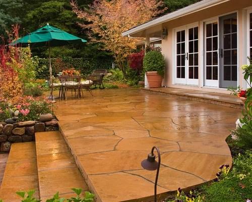 Stone Patio Steps   Houzz on Houzz Backyard Patios  id=61812