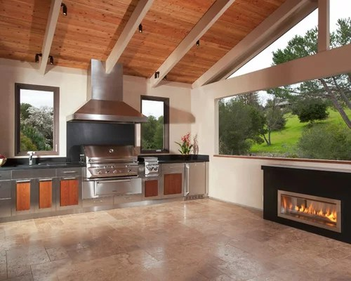 Outdoor Gas Fireplace   Houzz on Outdoor Gas Fireplace For Deck id=89804