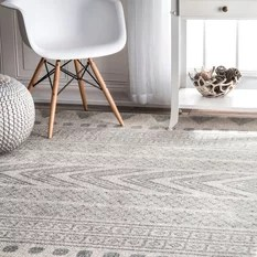 50 Most Popular 5 x 7 Area Rugs for 2018   Houzz nuLOOM   nuLOOM Transitional Henna Tribal Bands Area Rug  Gray  5 x7