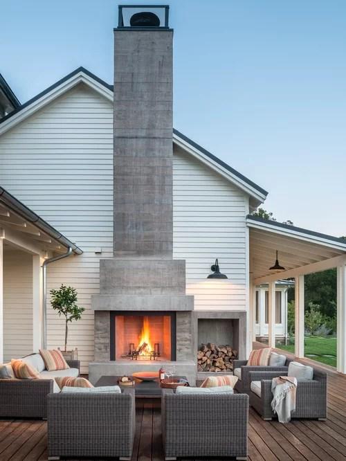Farmhouse Patio Design Ideas, Remodels & Photos | Houzz on Farmhouse Yard Ideas id=85368