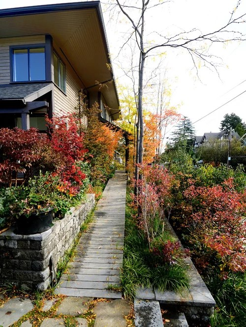 Sloping Side Yard Home Design Ideas, Pictures, Remodel and ... on Uphill Backyard Ideas  id=87797