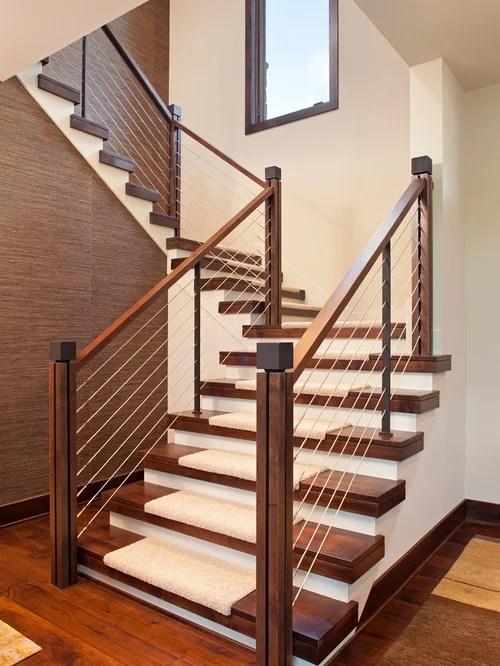 Open Tread Stair Houzz   Open Tread Staircase Designs