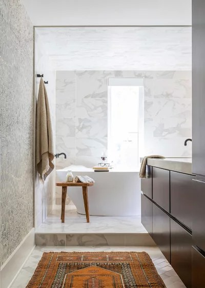 Eclectic Bathroom by Lola Interiors