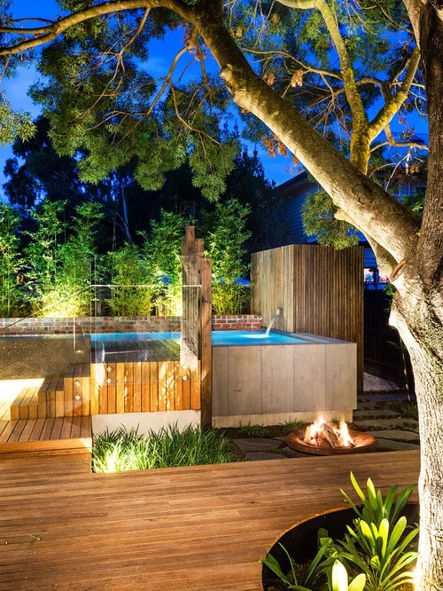 Outdoor Fire Pit On Unlevel Ground Home Design Ideas ... on Unlevel Backyard Ideas id=24474
