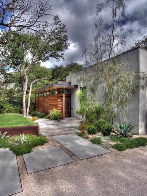 Large Concrete Pavers Home Design Ideas, Pictures, Remodel ... on Concrete Front Yard Ideas id=94369