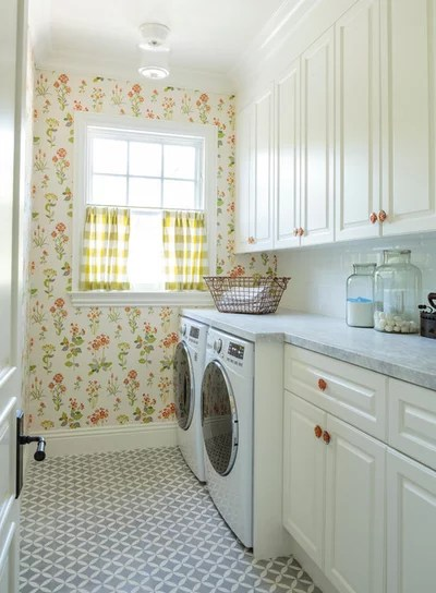 Traditional Laundry Room by Alison Kandler Interior Design