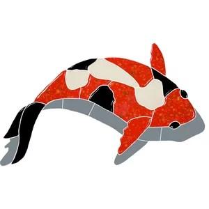 koi fish ceramic swimming pool mosaic